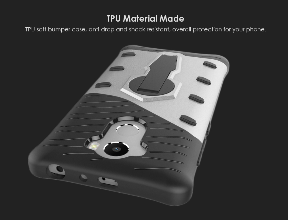 TPU Bumper Cover Phone Case Bracket Protector for Xiaomi Redmi 4