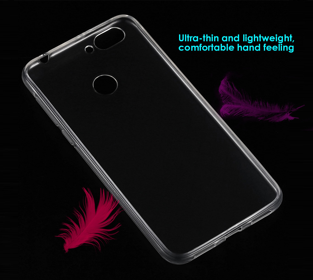 Transparent TPU Soft Case Protective Cover Phone Protector for Oukitel U20 Plus