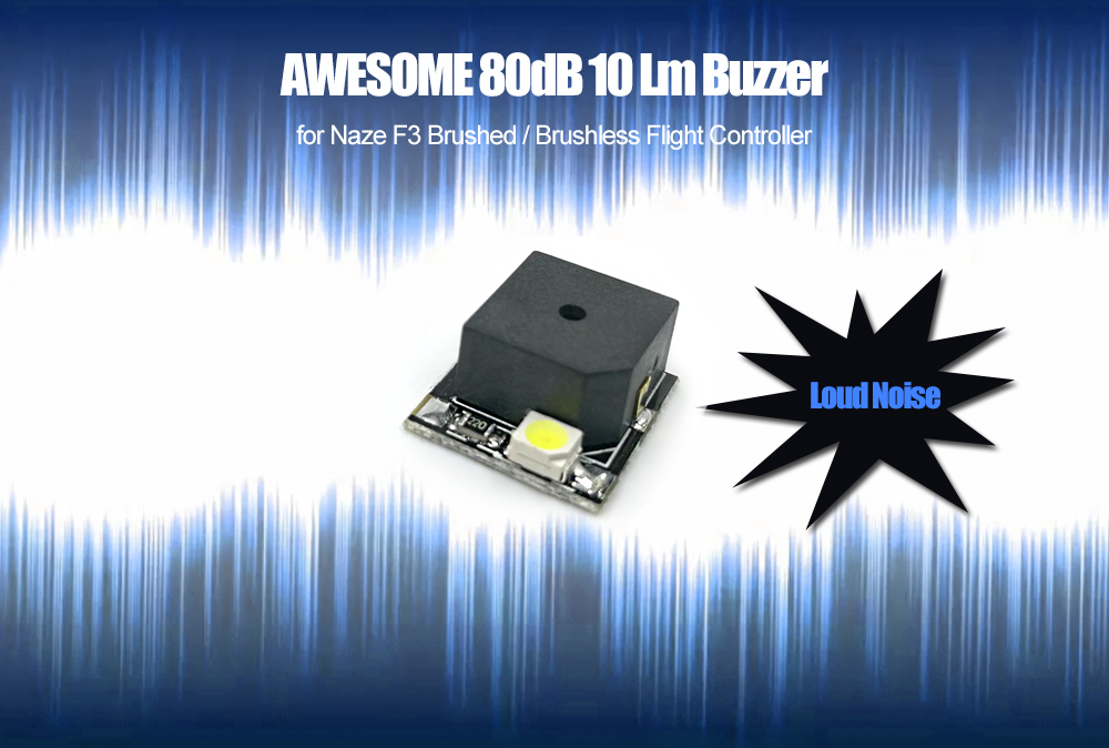 AWESOME 80dB 10 Lm Buzzer for Naze F3 Brushed / Brushless Flight Controller