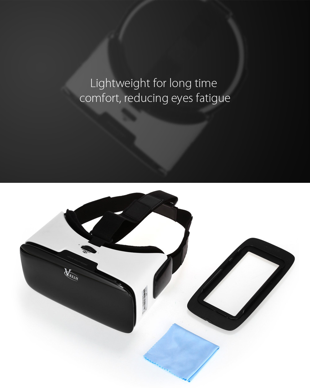 Viulux X7 Virtual Reality 3D Glasses for 3.5 - 6.0 inch Phones