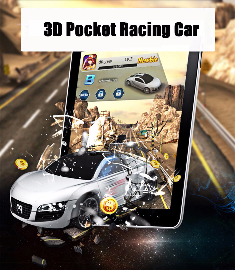 3D Smart Interactive Pocket Racing Car Set Educational Toy Upgraded Version