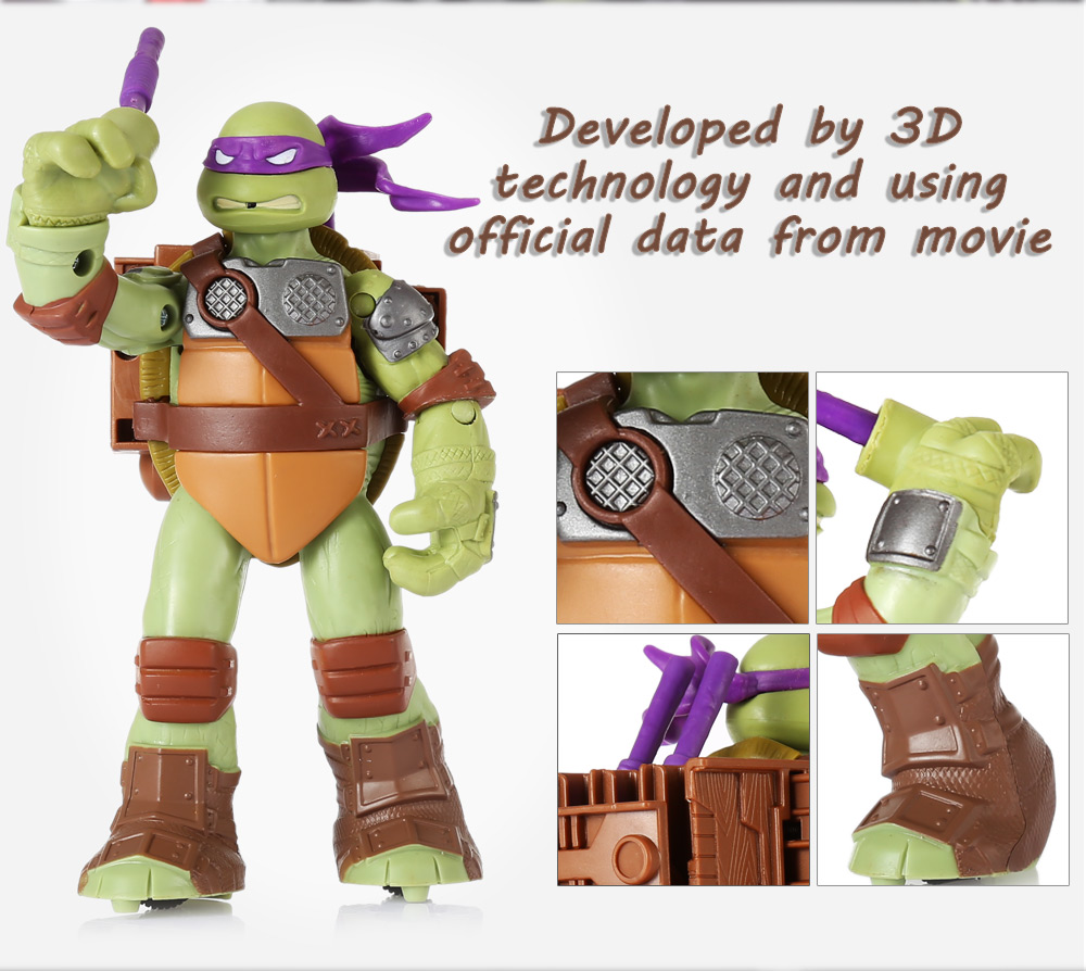 6.69 inch Movable Movie Figure Turtle Kid Model Toy Decoration