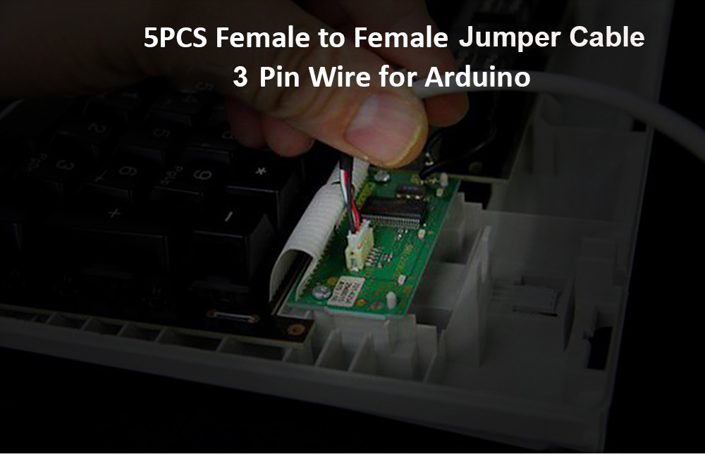 5PCS Female to Female Breadboard Connector Cable with 3 Pin