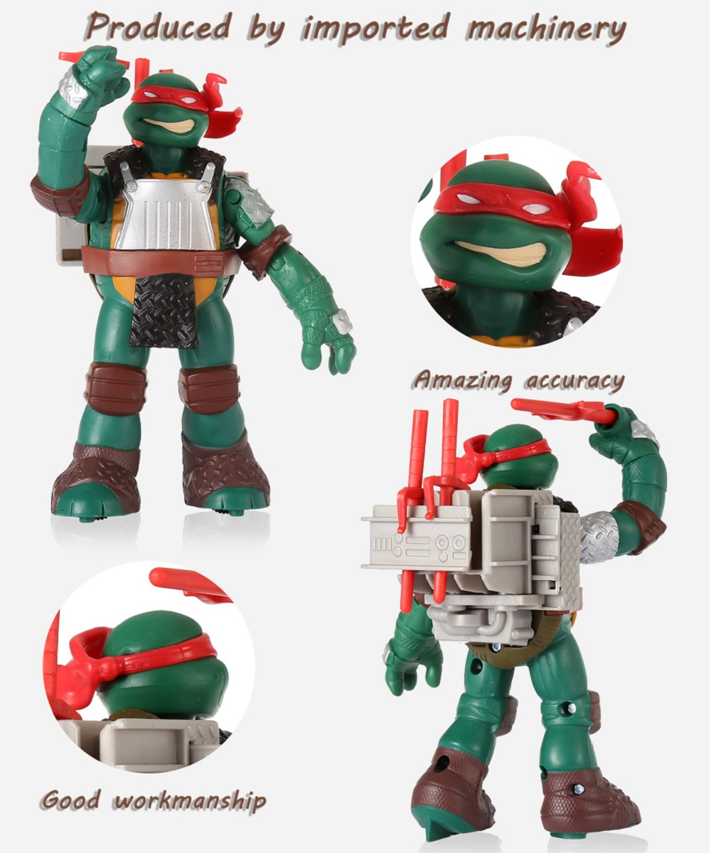 Movable Movie Figure Turtle Kid Model Toy Decoration - 6.69 inch