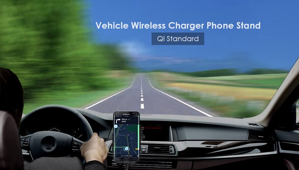 Wireless Charger Vehicle Phone Stand Charging Dock Air Vent Holder