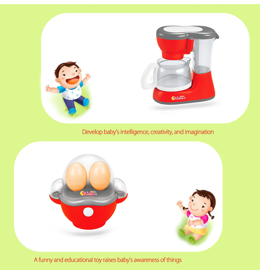 6pcs / set Electric Simulation Appliance Educational Pretend Play Household Toy Gift