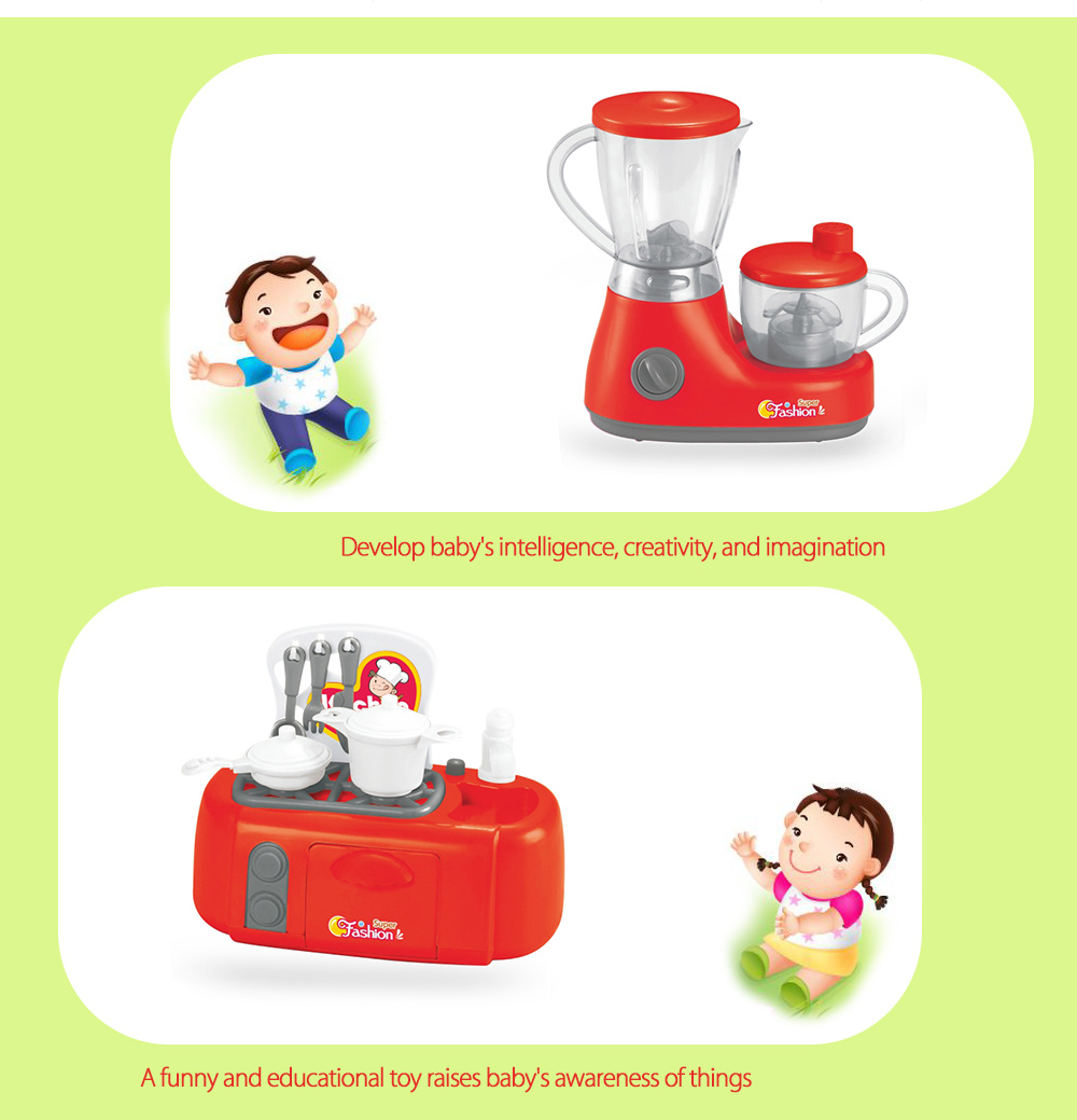 6pcs / set Electric Simulation Appliance Educational Pretend Play Household Toy