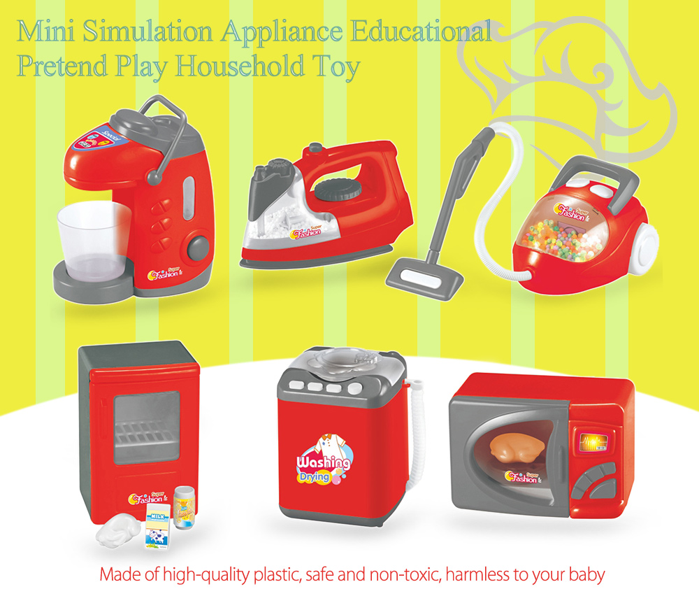 Electronic Simulation Appliance Educational Pretend Play Household Toy Gift - 6pcs / set