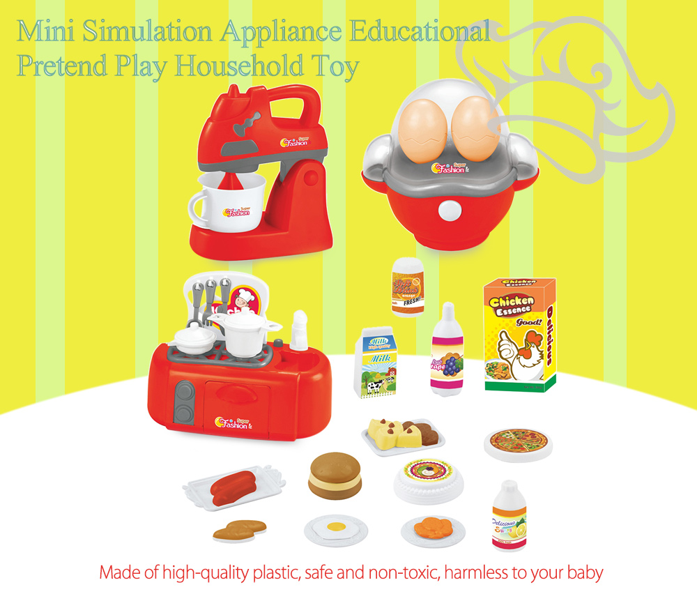 3pcs / set Electric Simulation Appliance Educational Pretend Play Household Toy