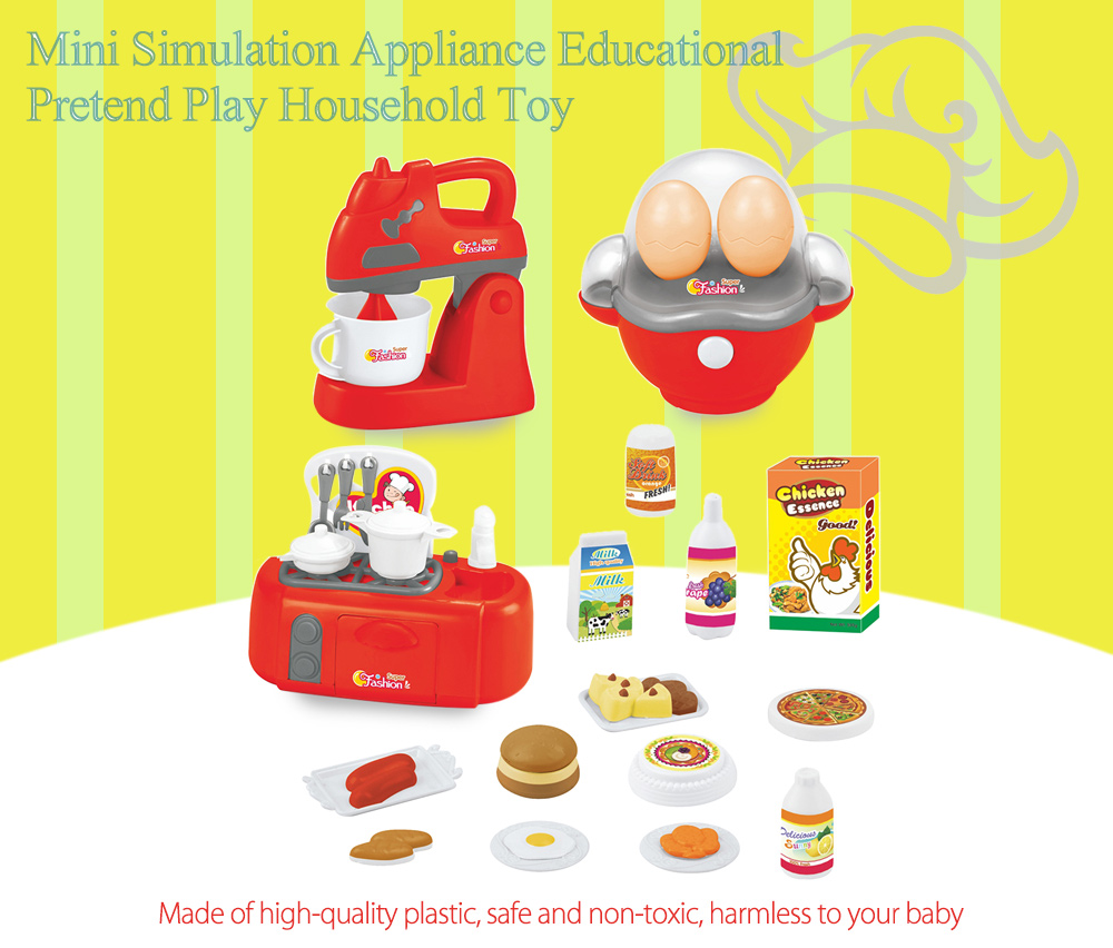 3pcs / set Electronic Simulation Appliance Educational Pretend Play Household Toy Gift