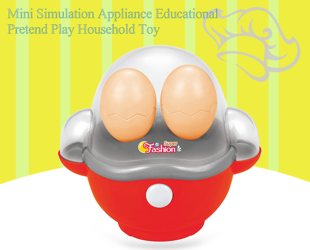 Electric Egg Cooker Simulation Appliance Educational Pretend Play Household Toy Gift