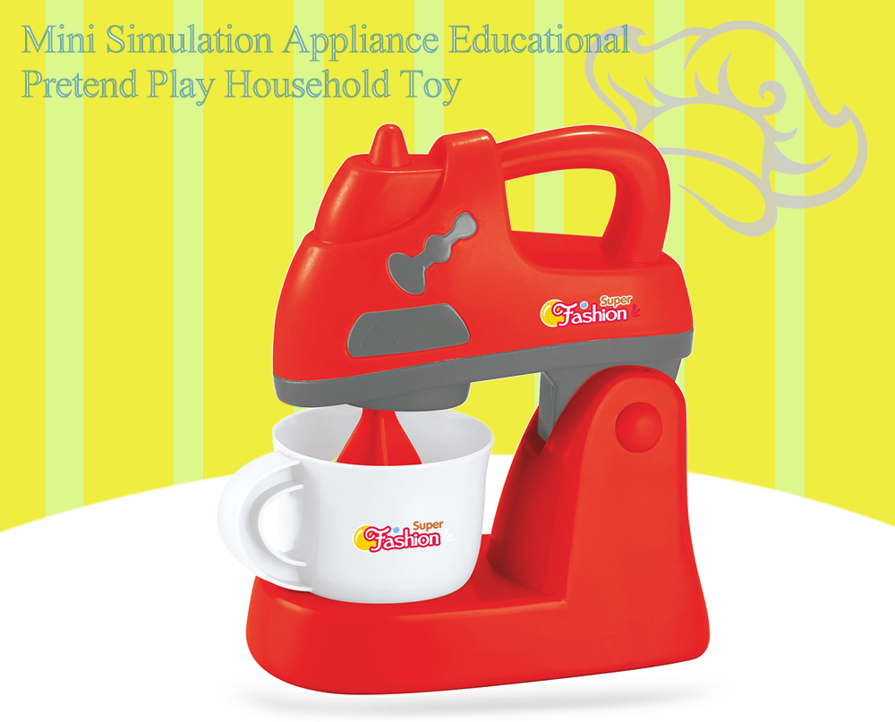 Electric Blender Simulation Appliance Educational Pretend Play Household Toy Gift