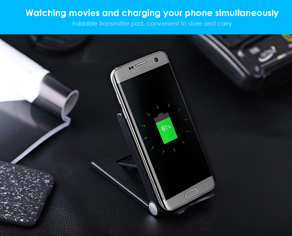 Q11 Wireless Charger Pad Foldable Phone Bracket Holder