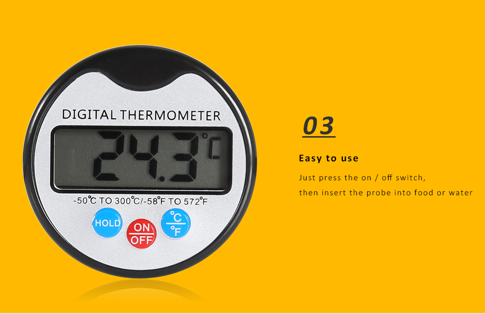 Digital LCD Prob Thermometer for Food BBQ Meat Chocolate Oven Cooking