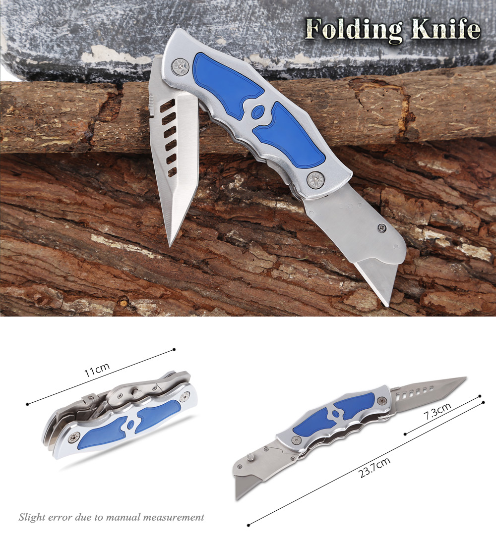 420 Stainless Steel Two-blade Folding Knife with Frame Lock