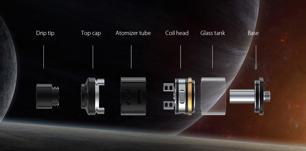 Original Smok SKYHOOK RDTA Atomizer with Two Posts / Dual / Single Coil Building / 5ml / Side Filling for E Cigarette