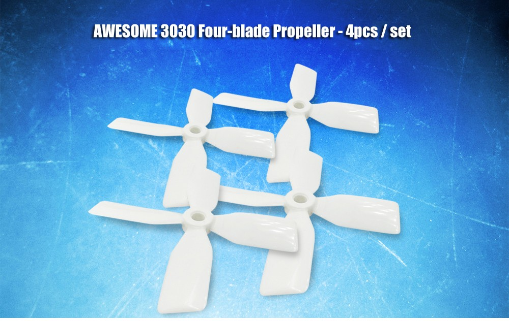 AWESOME 3030 Four-leaf Propeller Set for youbi XV - 130 FPV Racing Drone