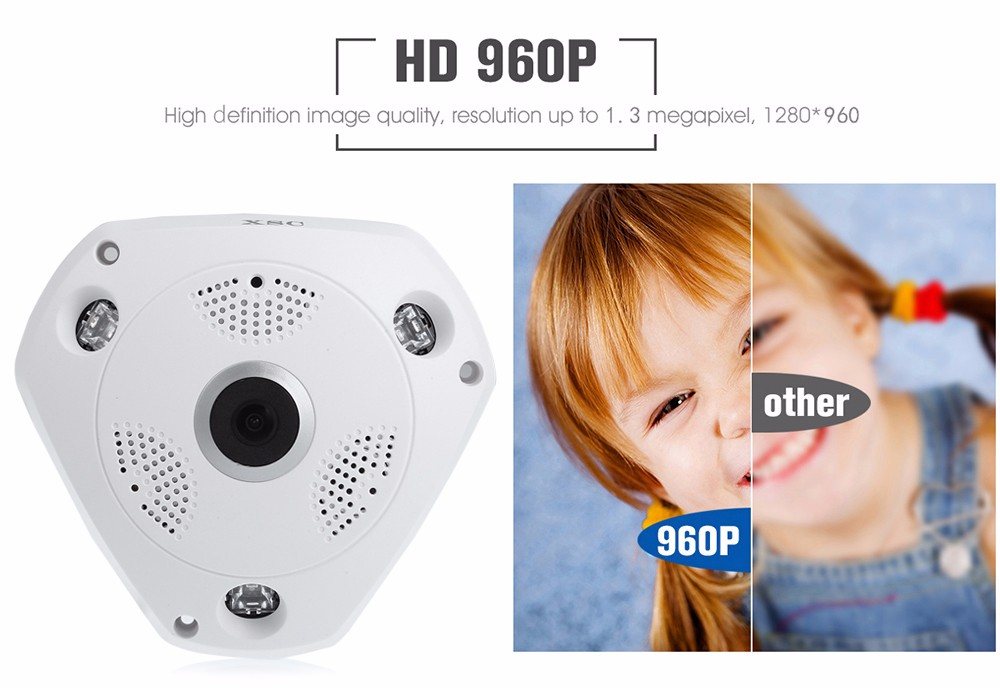 XSC WiFi 360 Degree Panoramic VR IP Camera Fisheye Lens