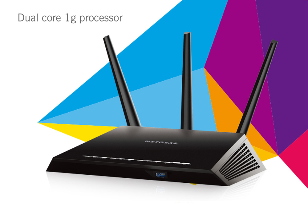 NETGEAR R7000 Dual Band 1900Mbps AC WiFi Router