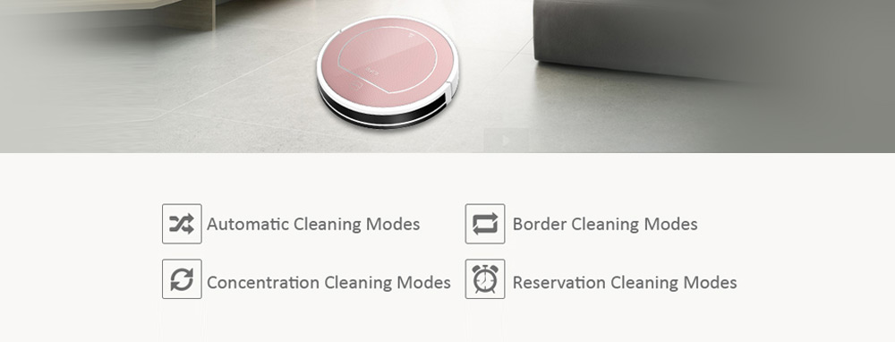 ILIFE V7S Pro Smart Robotic Vacuum Cleaner Cordless Sweeping Cleaning Machine Timing Function IR Sensor Automatic Mop