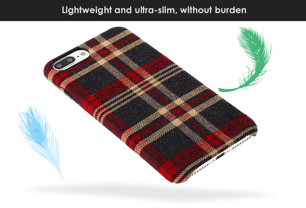 Luanke Fabric Grain Phone Case Protector for iPhone 7 Plus