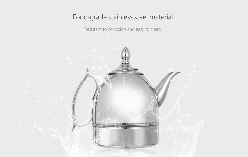 Thickened 1L Stainless Steel Teapot with Infuser