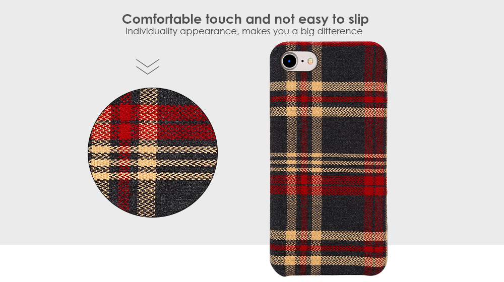 Luanke Fabric Grain Phone Case Protector for iPhone 7
