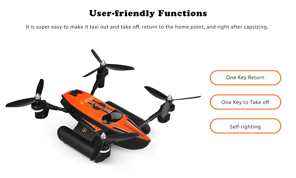 WLtoys Q353 Aeroamphibious RC Drone RTF Air Land Sea Mode / Headless Mode / One Key Return