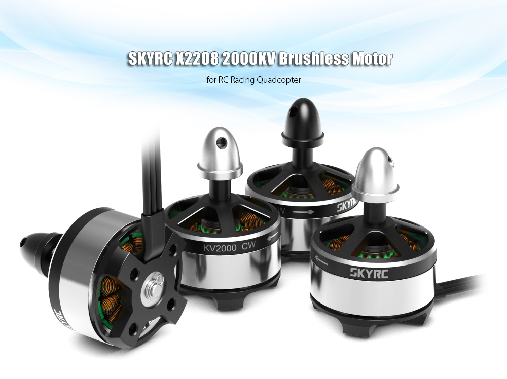 SKYRC X2208 2000KV Brushless Motor Set Compatible with 2 - 4S LiPo Input for RC Racing Multirotors