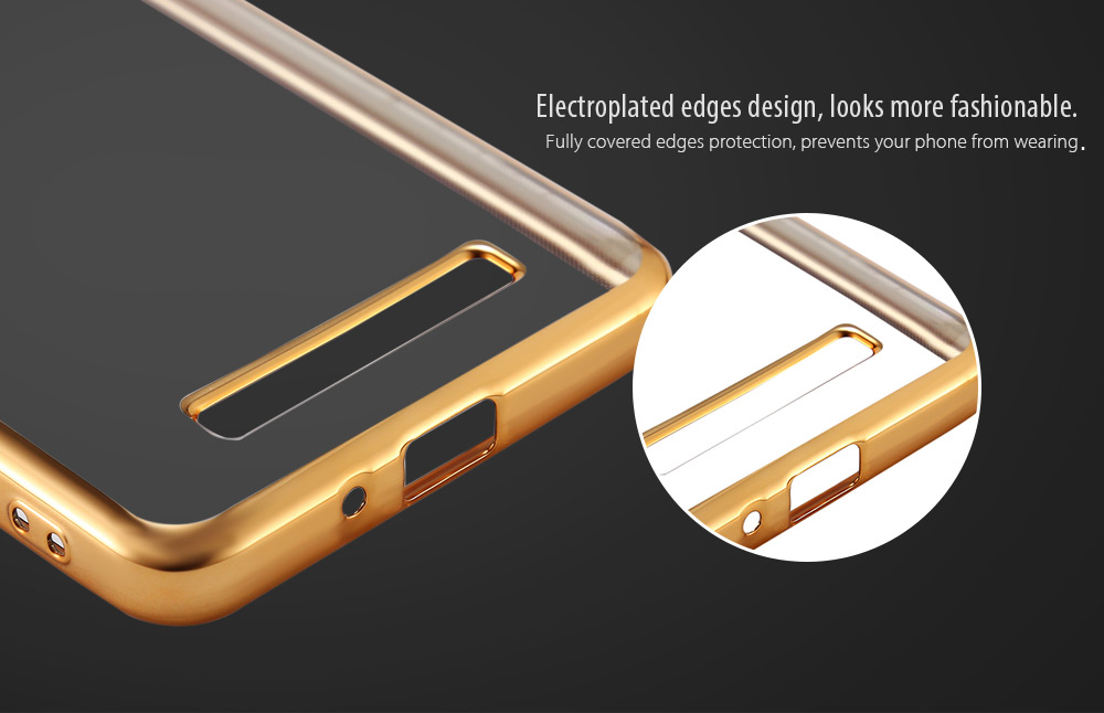 Luanke TPU Soft Protective Phone Case for Xiaomi Redmi 4A Electroplated Edge Transparent Shell