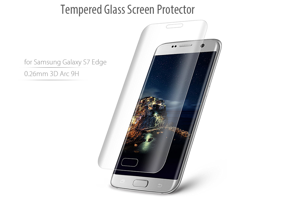 Hat Prince Tempered Glass Screen Protector for Samsung Galaxy S7 Edge 0.26mm 9H 3D Arc Explosion-proof Film
