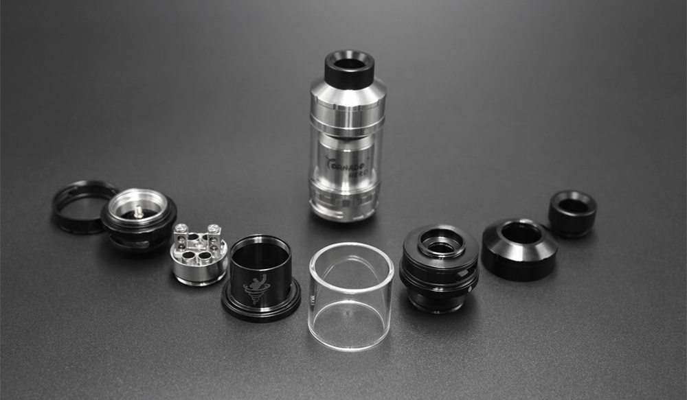 Original IJOY Tornado Hero RTA Tank with Dual Posts / Side Filling / Adjustable Airflow Control / 5.2ml for E Cigarette