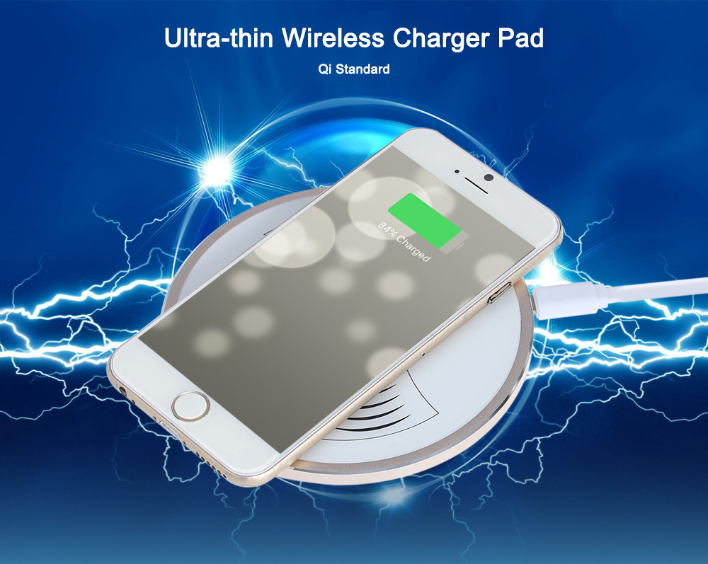 YMP X2 Ultra-thin Wireless Charger Transmitter Pad Aluminum Alloy Housing