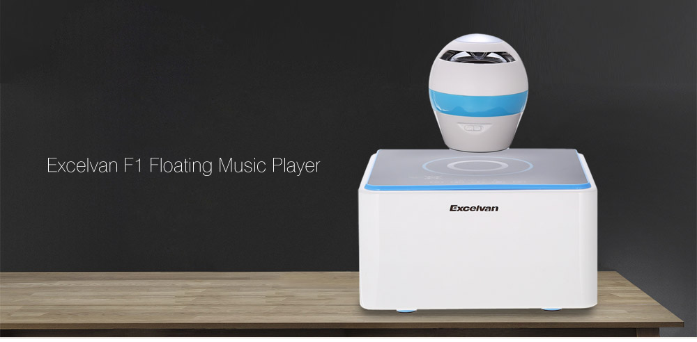 Excelvan F1  Levitating Speaker Wireless Bluetooth 4.0 Colorful LED Light Music Player