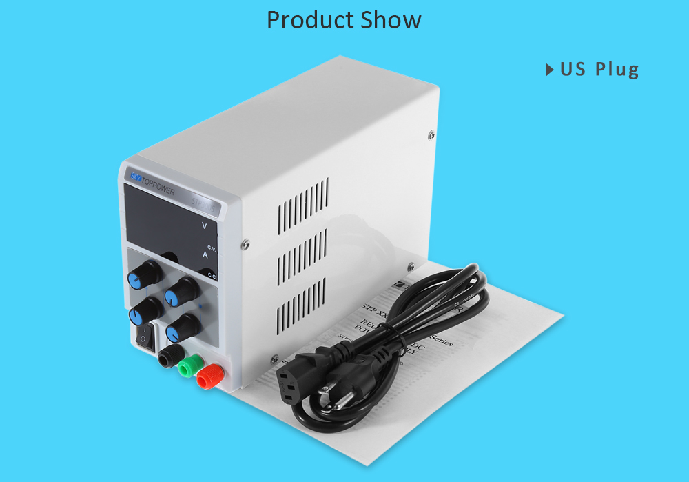 SKYTOPPOWER 3 Digits High Precision 0 - 30V 0 - 5A Adjustable DC Power Supply