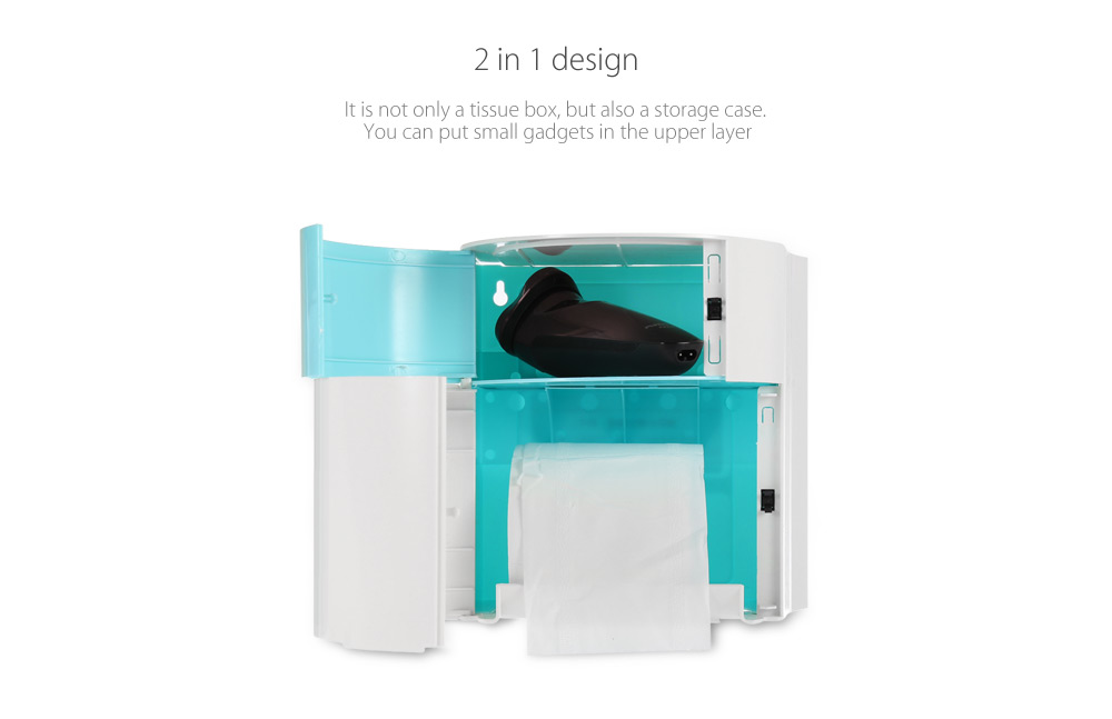 EZWIN Multifunctional Bathroom Tissue Box Storage Case for Home