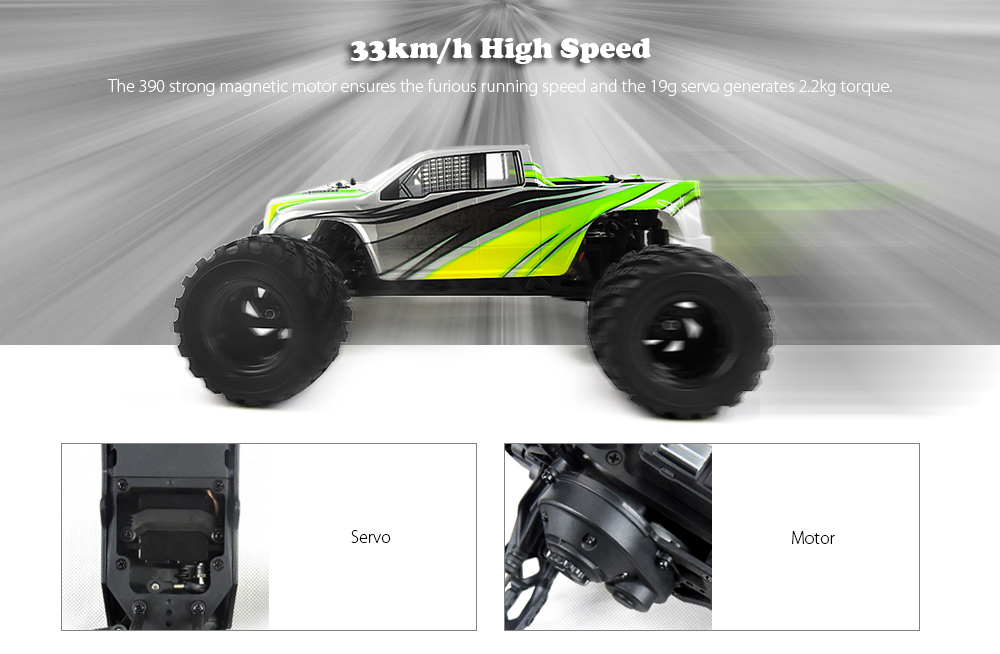 HBX 12883P 1:12 RC Racing Car RTR 33km/h / 2.4GHz 2WD / Waterproof 2-in-1 Receiver 40A ESC