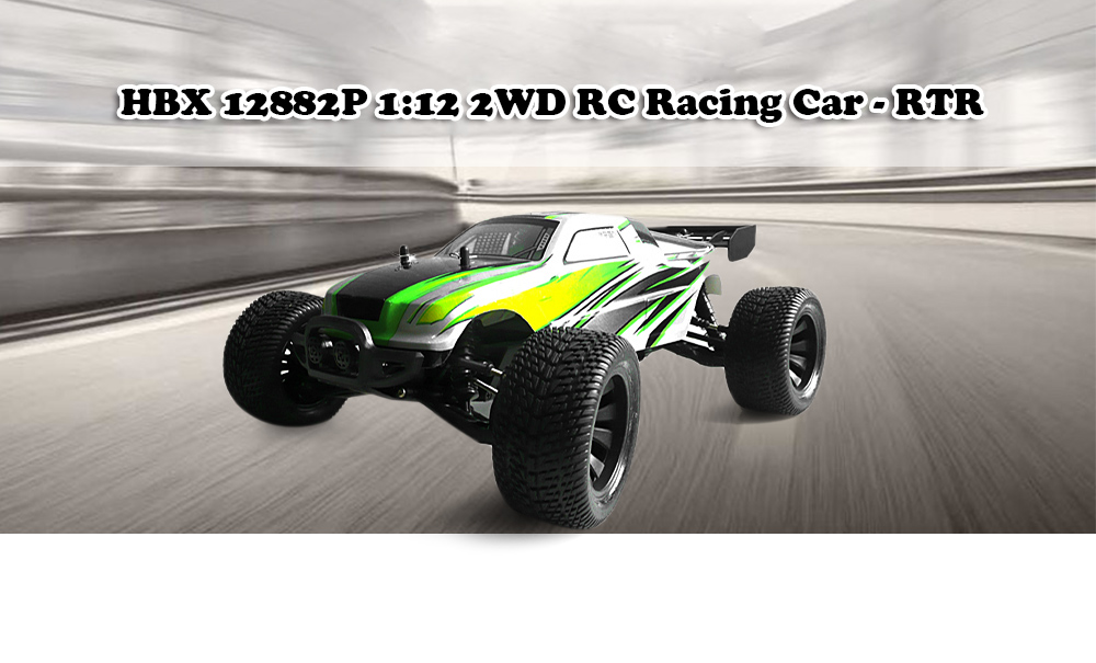 HBX 12882P 1:12 RC Racing Car RTR 33km/h / 2.4GHz 2WD / Waterproof 2-in-1 Receiver 40A ESC