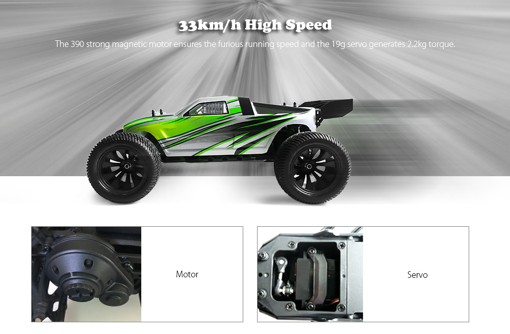 HBX 12882P 1:12 RC Racing Car RTR 33km/h / 2.4GHz RWD / Waterproof 2-in-1 Receiver 40A ESC