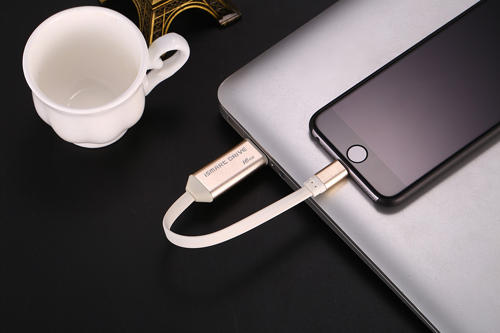 Smart 8 Pin Data Sync Charging Cable Micro USB Cord 16GB Drive Disk