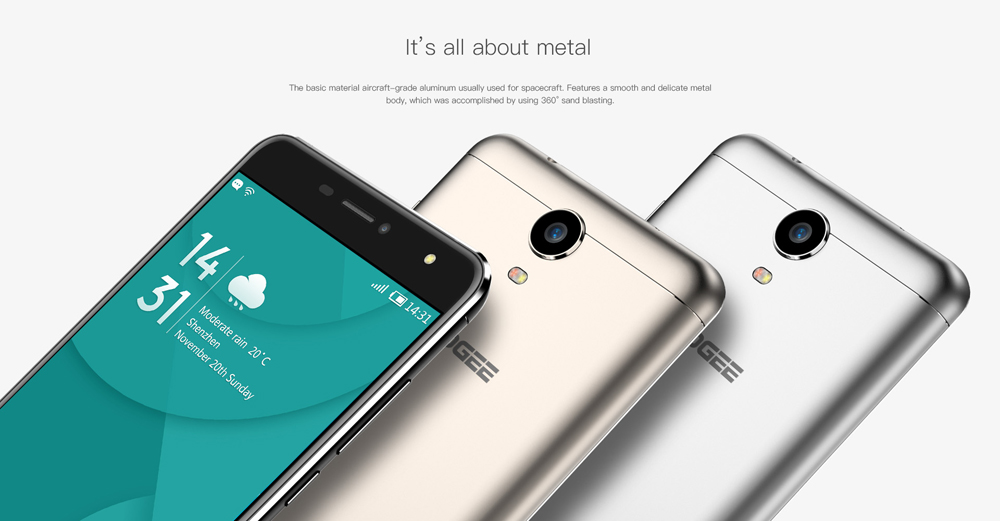 DOOGEE X7 6.0 inch 3G Phablet Android 6.0 MTK6580 Quad Core 1.3GHz 1GB RAM 16GB ROM Bluetooth 4.0 Dual Cameras