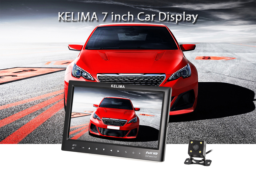 KELIMA 7 inch Car Display with Rearview Camera