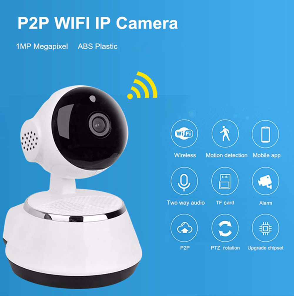 Smart WiFi IP Camera Home Security 720P Night Vision Motion Detection
