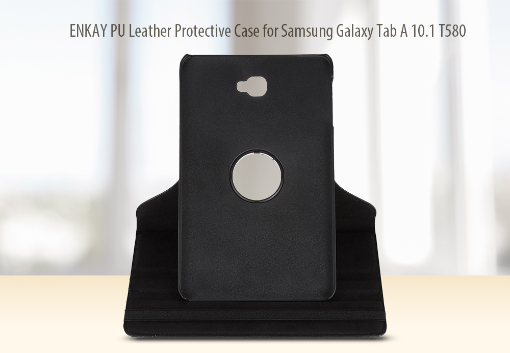 ENKAY PU Leather Protective Case for Samsung Galaxy Tab A 10.1 T580 360 Degree Rotation