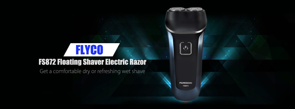 FLYCO FS872 Floating Shaver Rechargeable Washable Electric Razor