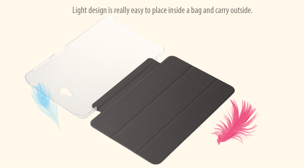 ENKAY PU Leather Protective Case for Samsung Galaxy Tab A 10.1 T580 Silk Grain Folding Stand Function