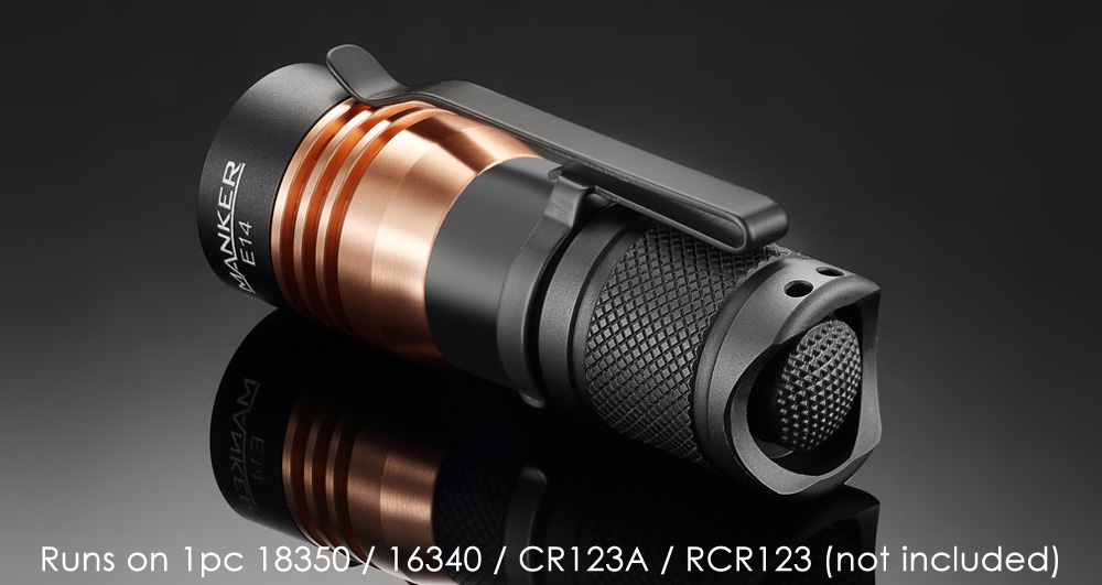 Manker E14 CREE XP - G2 1600LM 6500K EDC LED Flashlight Torch