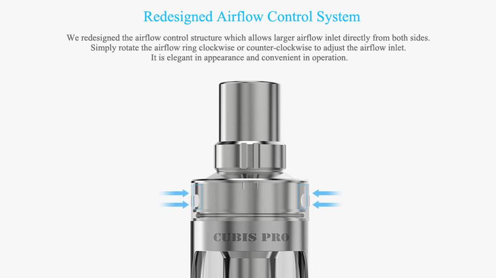Original Joyetech CUBIS Pro Mini Clearomizer with 0.5 ohm 1.5 ohm 2ml Capacity Top Airflow for E Cigarette