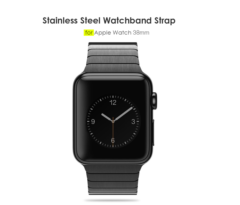 Stainless Steel Watchband Wrist Strap Replacement for Apple Watch 38mm