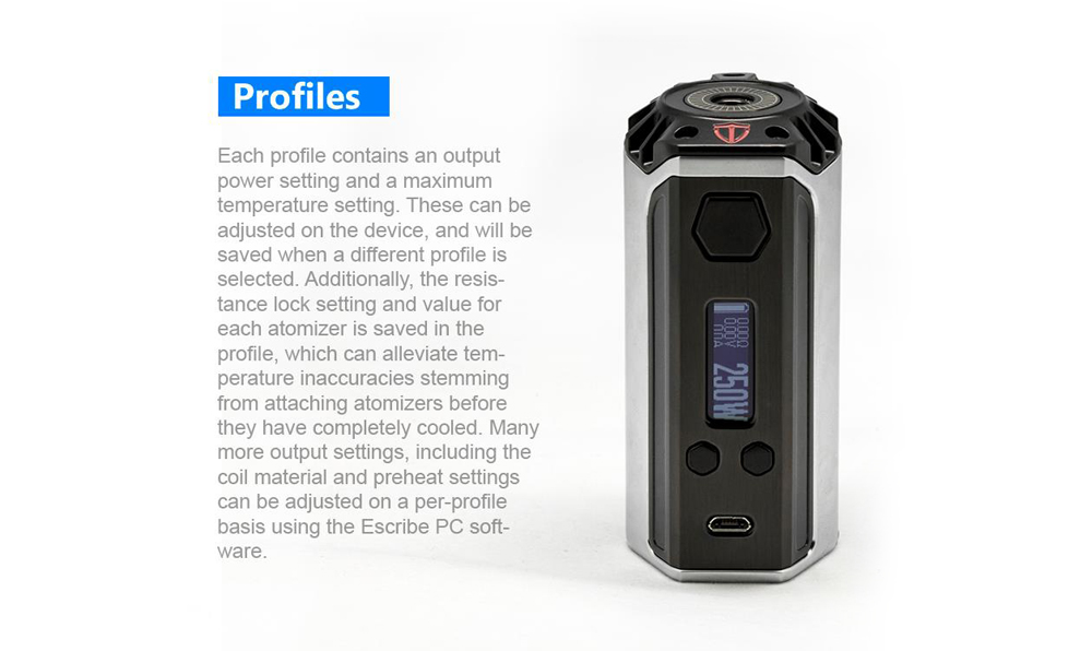 Think Vape Finder 250W TC Бокс мод с Evolve DNA 250 Чипом